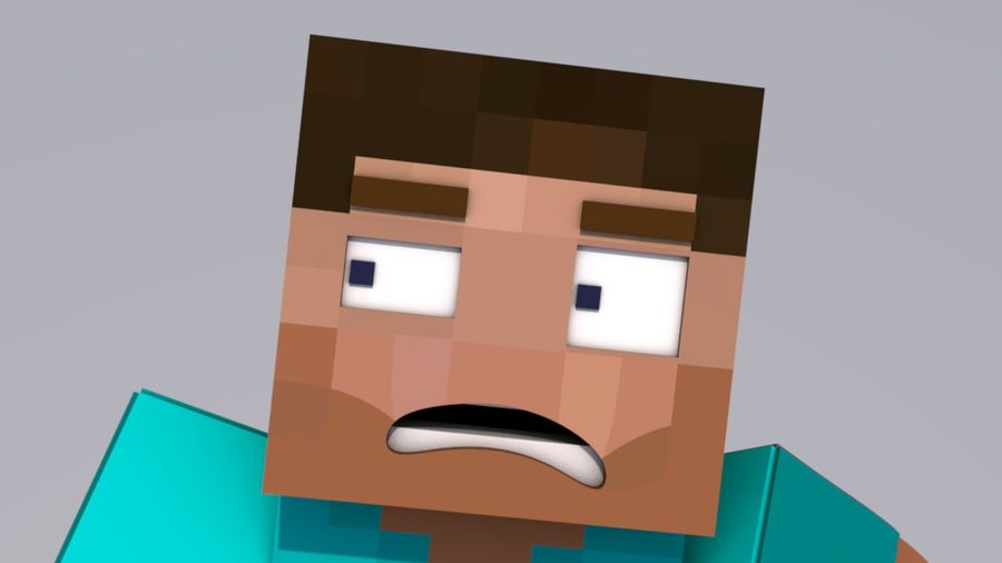 Minecraft Steve royalty-free 3d model - Preview no. 3
