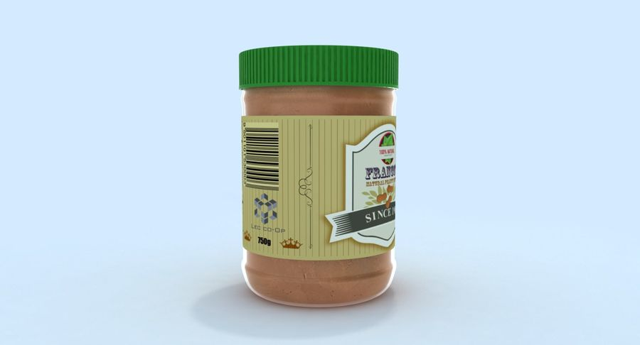 Peanut Butter royalty-free 3d model - Preview no. 6