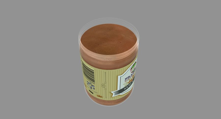 Peanut Butter royalty-free 3d model - Preview no. 18
