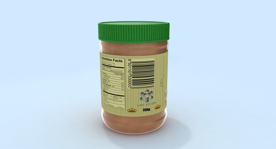 Peanut Butter royalty-free 3d model - Preview no. 7