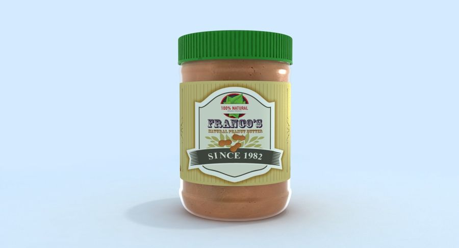 Peanut Butter royalty-free 3d model - Preview no. 5