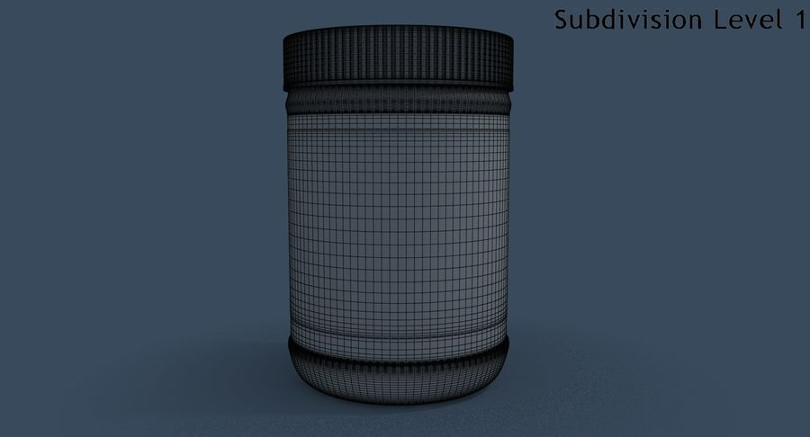 Peanut Butter royalty-free 3d model - Preview no. 23