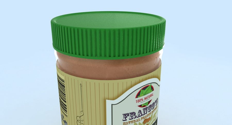 Peanut Butter royalty-free 3d model - Preview no. 13