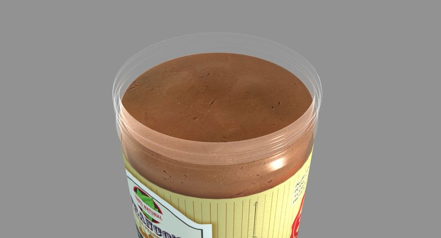 Peanut Butter royalty-free 3d model - Preview no. 15
