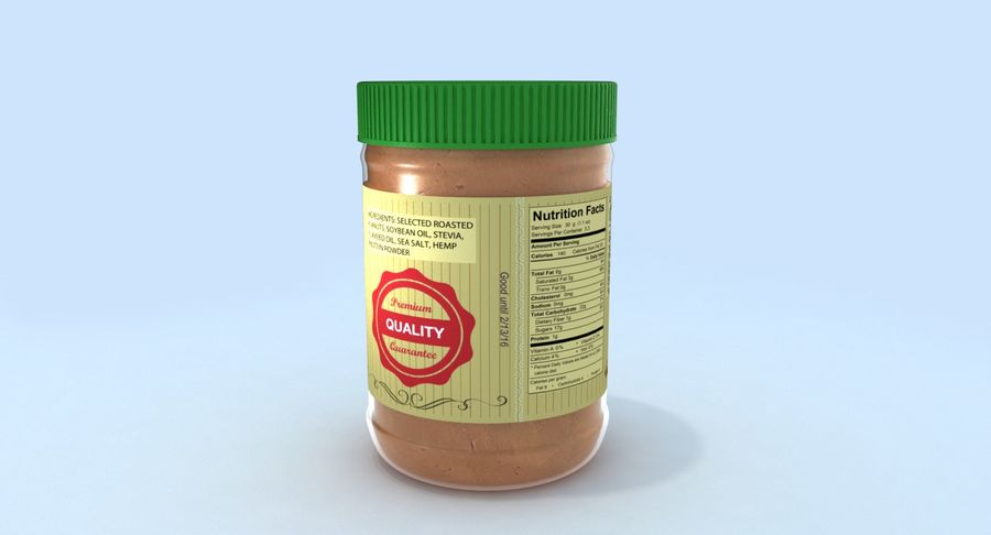 Peanut Butter royalty-free 3d model - Preview no. 8