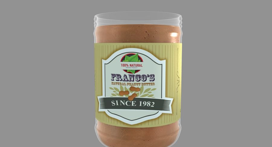 Peanut Butter royalty-free 3d model - Preview no. 16