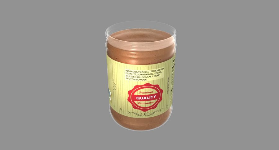 Peanut Butter royalty-free 3d model - Preview no. 19