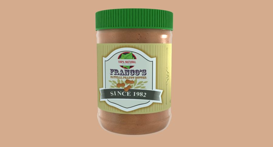 Peanut Butter royalty-free 3d model - Preview no. 3