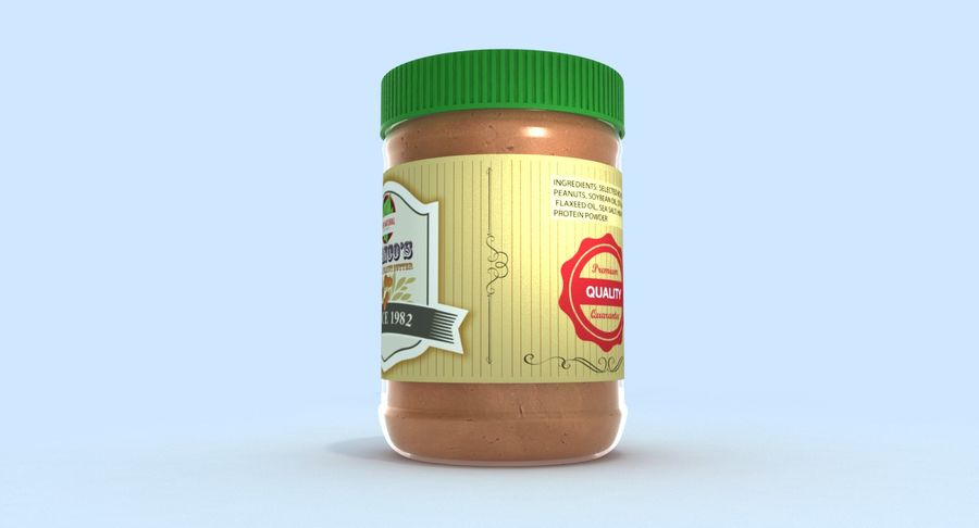 Peanut Butter royalty-free 3d model - Preview no. 9