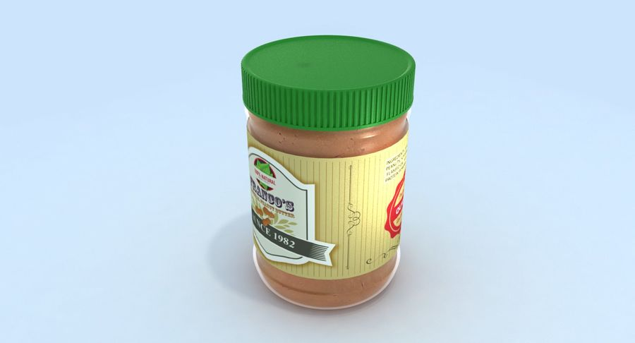 Peanut Butter royalty-free 3d model - Preview no. 10