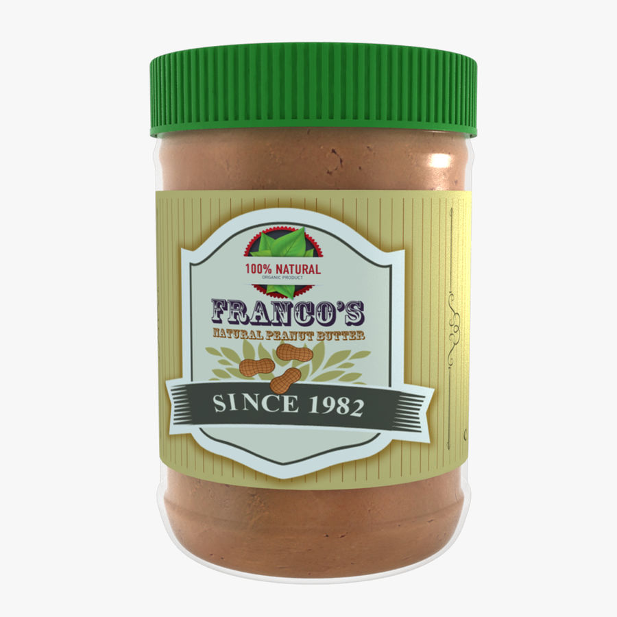 Peanut Butter royalty-free 3d model - Preview no. 1