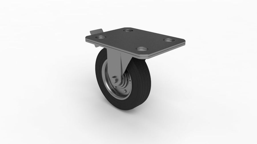Caster wheel royalty-free 3d model - Preview no. 8