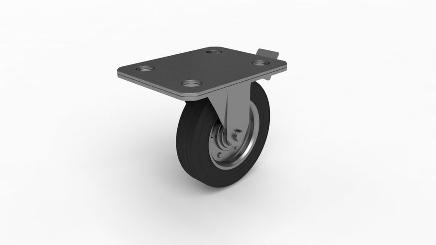 Caster wheel royalty-free 3d model - Preview no. 6