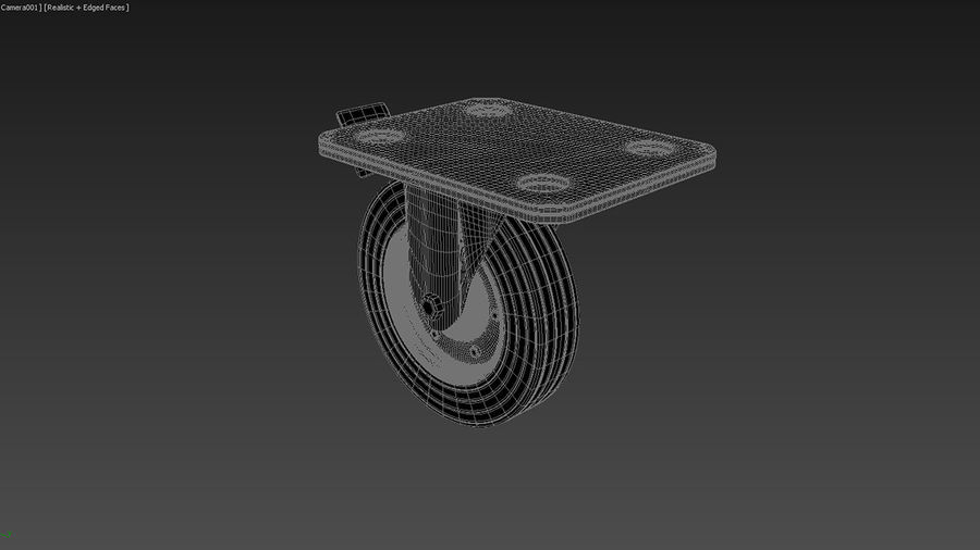 Caster wheel royalty-free 3d model - Preview no. 9