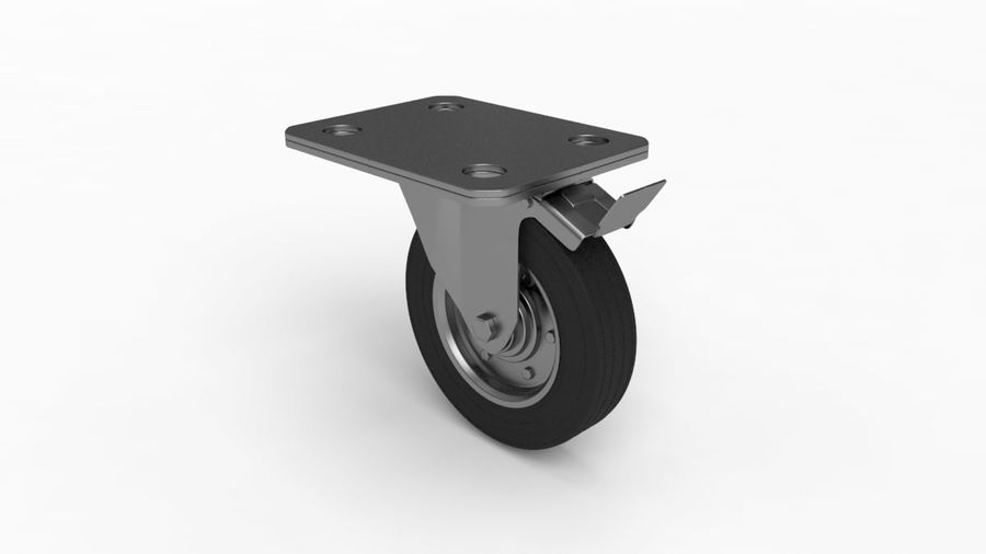 Caster wheel royalty-free 3d model - Preview no. 4