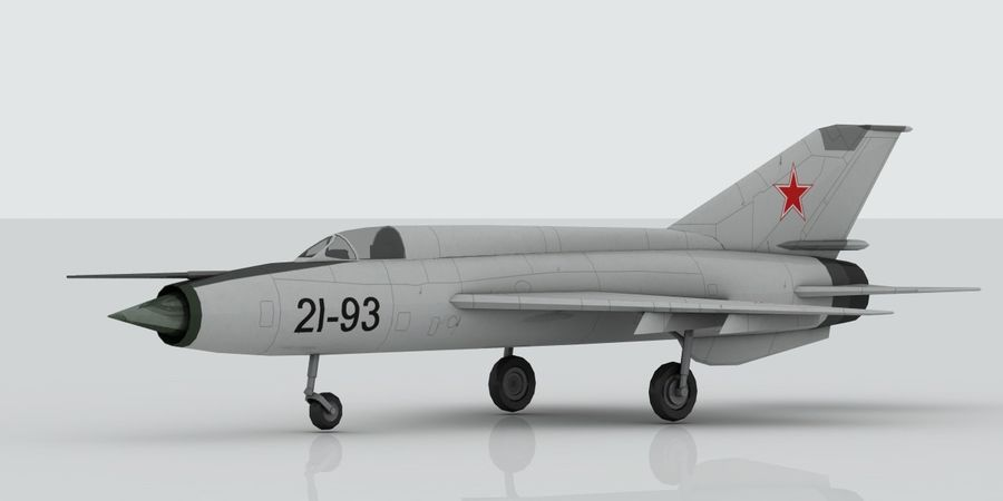 Mig 21 Skin 1 royalty-free 3d model - Preview no. 6