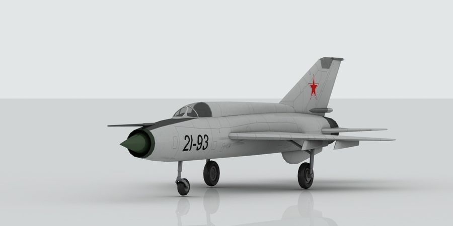 Mig 21 Skin 1 royalty-free 3d model - Preview no. 1