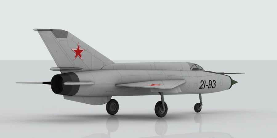 Mig 21 Skin 1 royalty-free 3d model - Preview no. 5