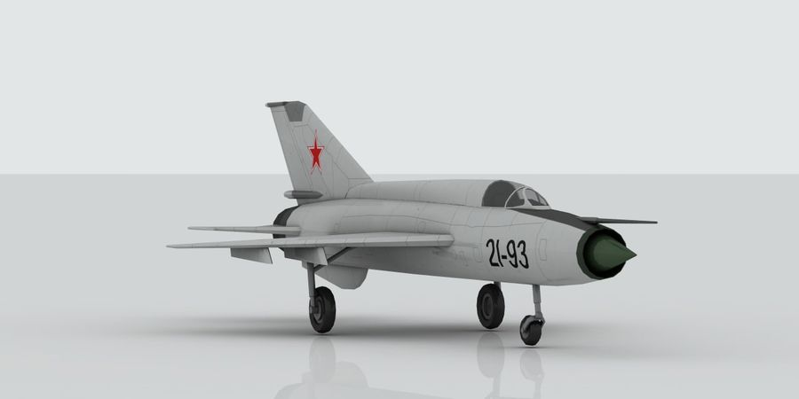 Mig 21 Skin 1 royalty-free 3d model - Preview no. 3