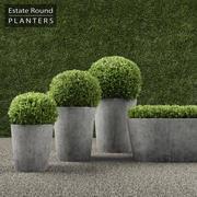 RH Round Planters 3d model