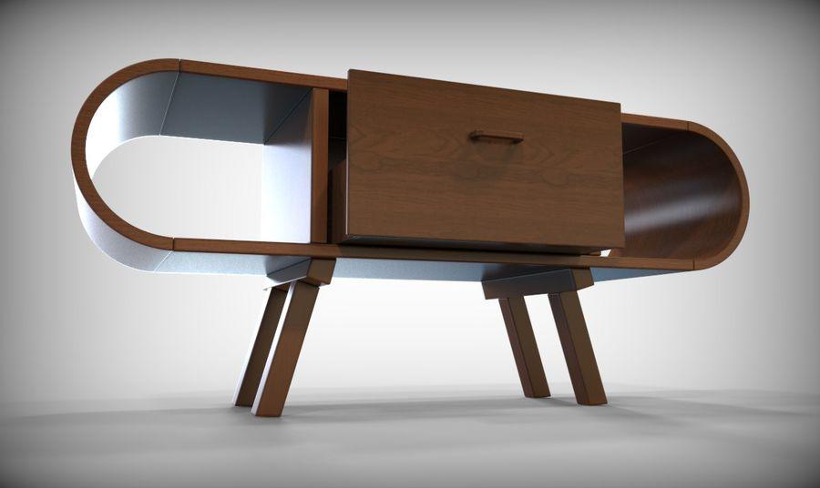 现代咖啡桌 royalty-free 3d model - Preview no. 18