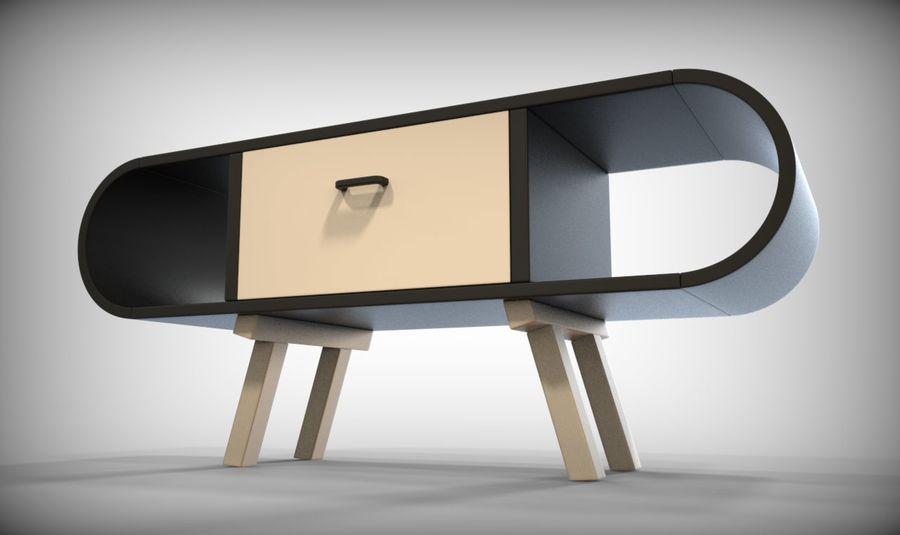 现代咖啡桌 royalty-free 3d model - Preview no. 30