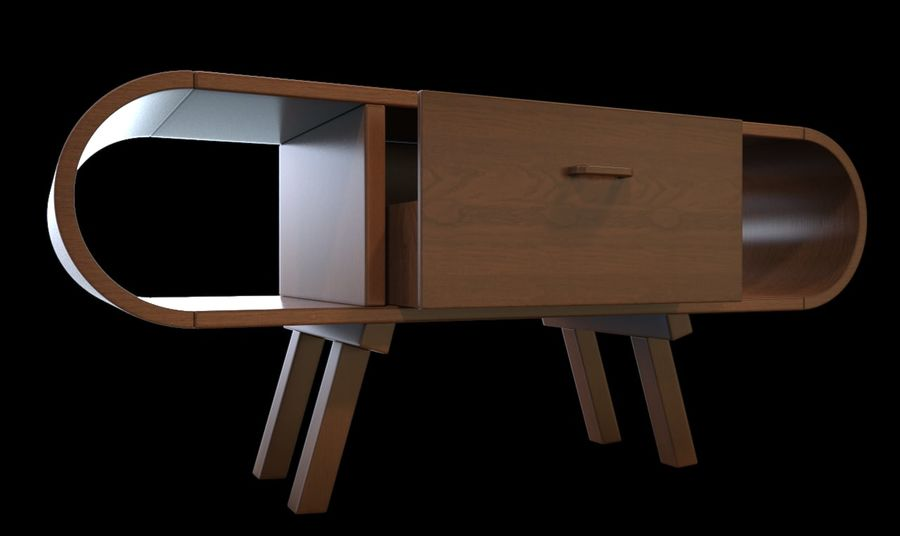 现代咖啡桌 royalty-free 3d model - Preview no. 14