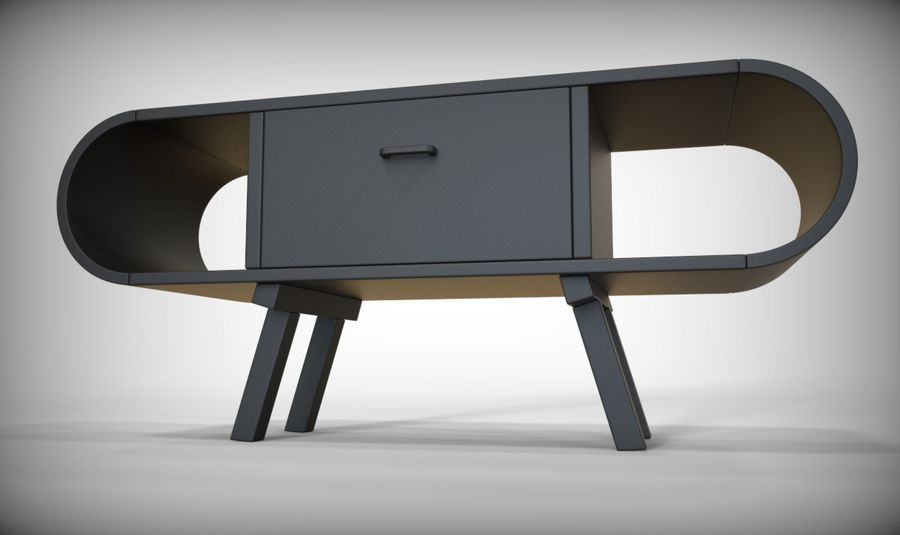 现代咖啡桌 royalty-free 3d model - Preview no. 33