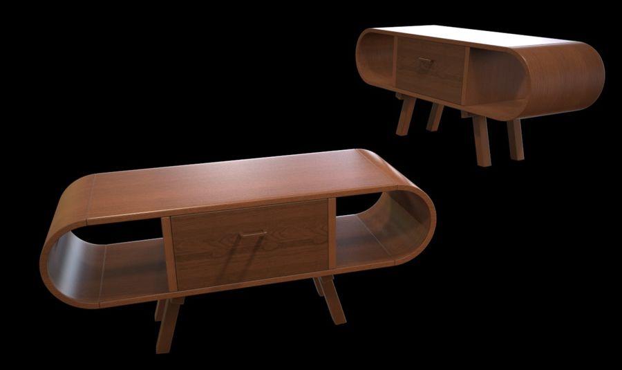 现代咖啡桌 royalty-free 3d model - Preview no. 37