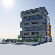 近代的なオフィスシティビル -  HD都市の景観未来的なタイル7 3d model