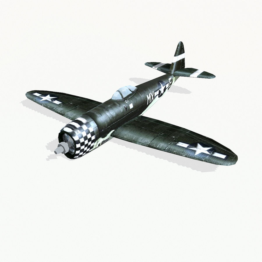 P-47 Thunderbolt royalty-free 3d model - Preview no. 3