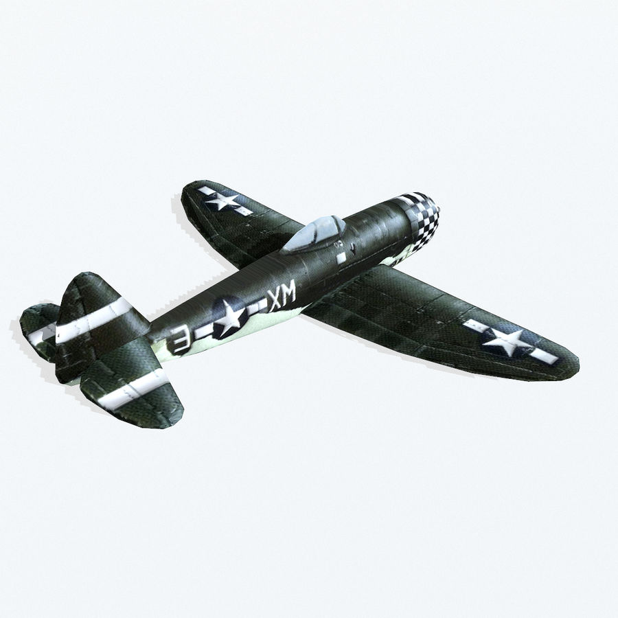 P-47 Thunderbolt royalty-free 3d model - Preview no. 5