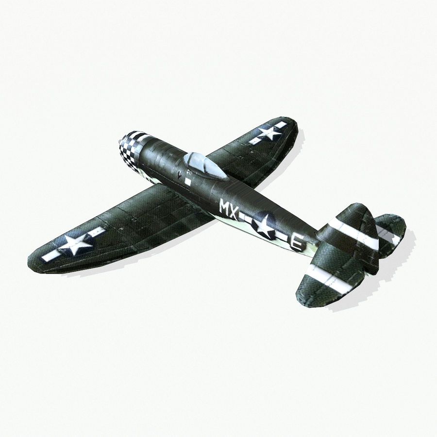 P-47 Thunderbolt royalty-free 3d model - Preview no. 4