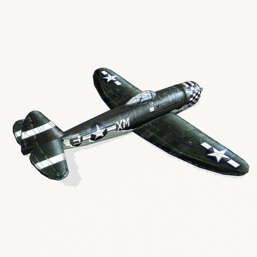 P-47 Thunderbolt royalty-free 3d model - Preview no. 11