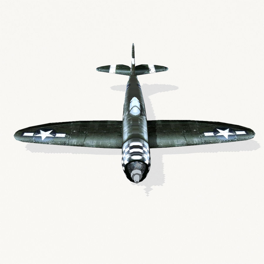P-47 Thunderbolt royalty-free 3d model - Preview no. 7