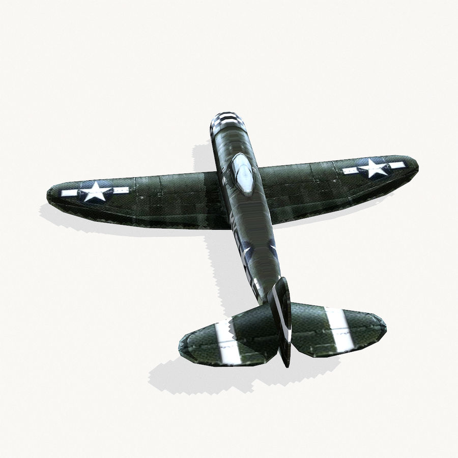 P-47 Thunderbolt royalty-free 3d model - Preview no. 8