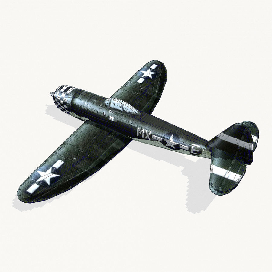 P-47 Thunderbolt royalty-free 3d model - Preview no. 12