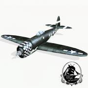 P-47 벼락 3d model