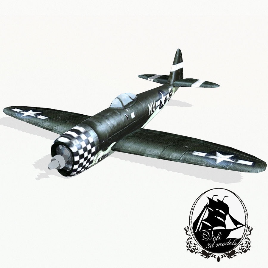 P-47 Thunderbolt royalty-free 3d model - Preview no. 1