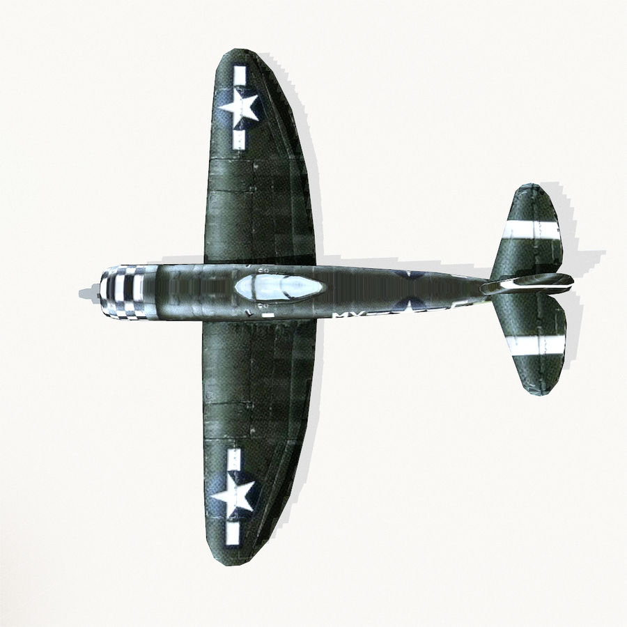 P-47 Thunderbolt royalty-free 3d model - Preview no. 9