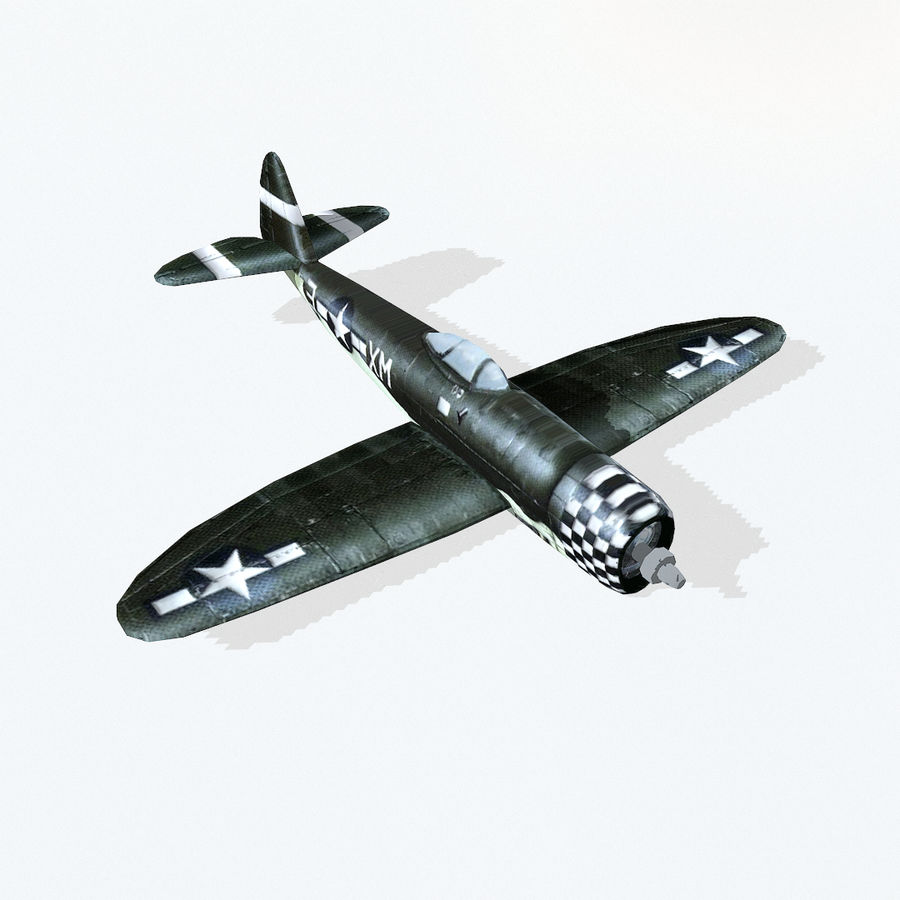 P-47 Thunderbolt royalty-free 3d model - Preview no. 6