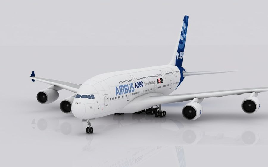 Airbus A380 royalty-free 3d model - Preview no. 2
