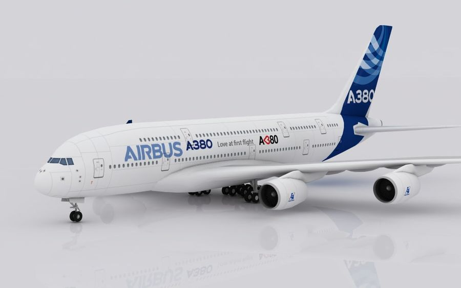 Airbus A380 royalty-free 3d model - Preview no. 1