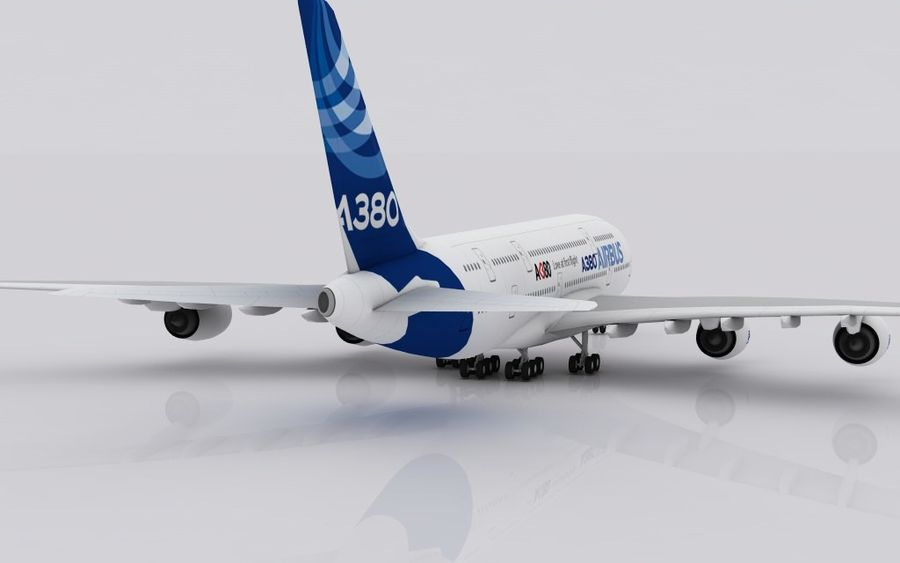 Airbus A380 royalty-free 3d model - Preview no. 4