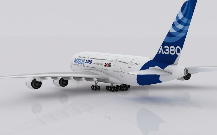 Airbus A380 royalty-free 3d model - Preview no. 5