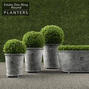 RH Round Ring Planters 3d model