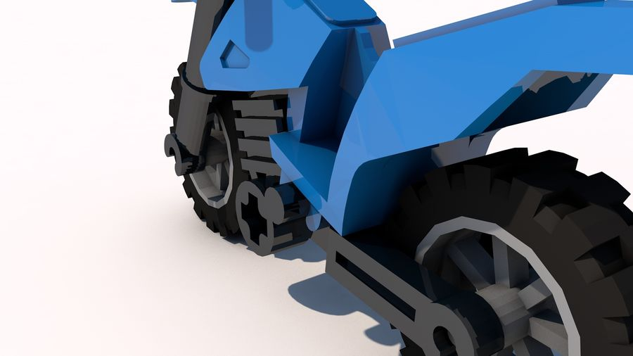 Lego Motorcykel royalty-free 3d model - Preview no. 5