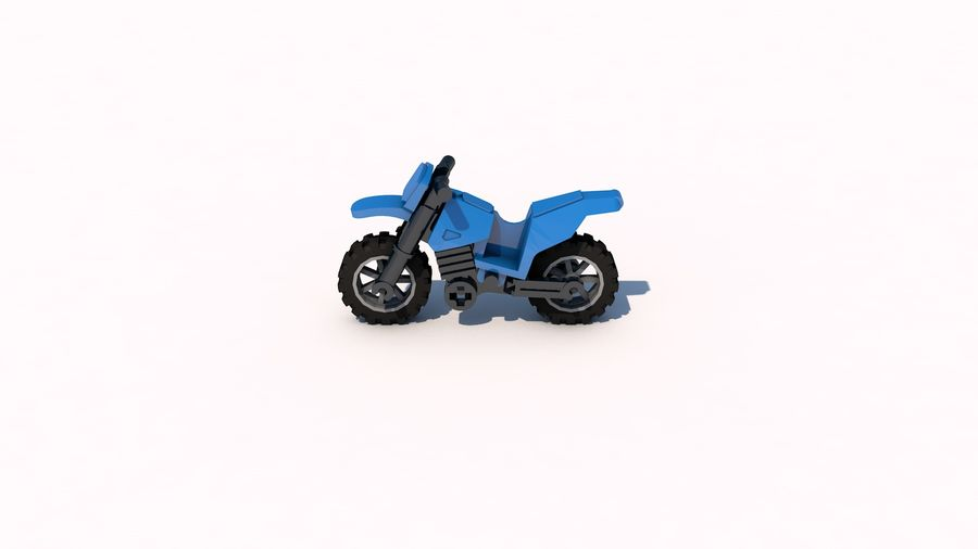 Lego Motorcykel royalty-free 3d model - Preview no. 2