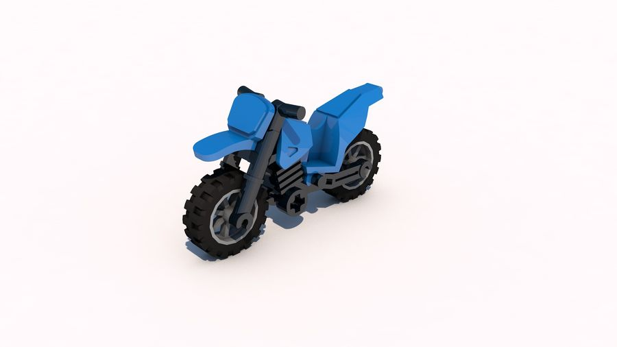 Lego Motorcykel royalty-free 3d model - Preview no. 1