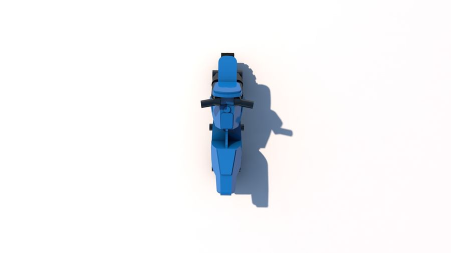 Lego Motorcykel royalty-free 3d model - Preview no. 4